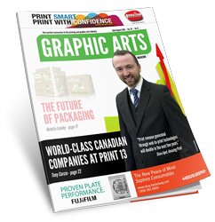 Slava Apel on the cover of Graphic Arts Magazine   July/August 2013