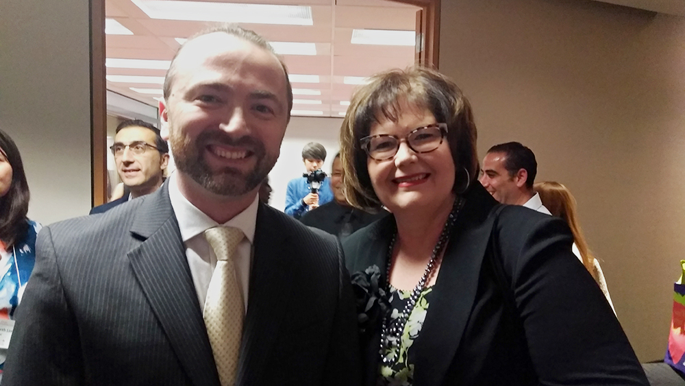 Slava Apel with Corinne Prince, Director General of the Foreign Credentials Referral Office