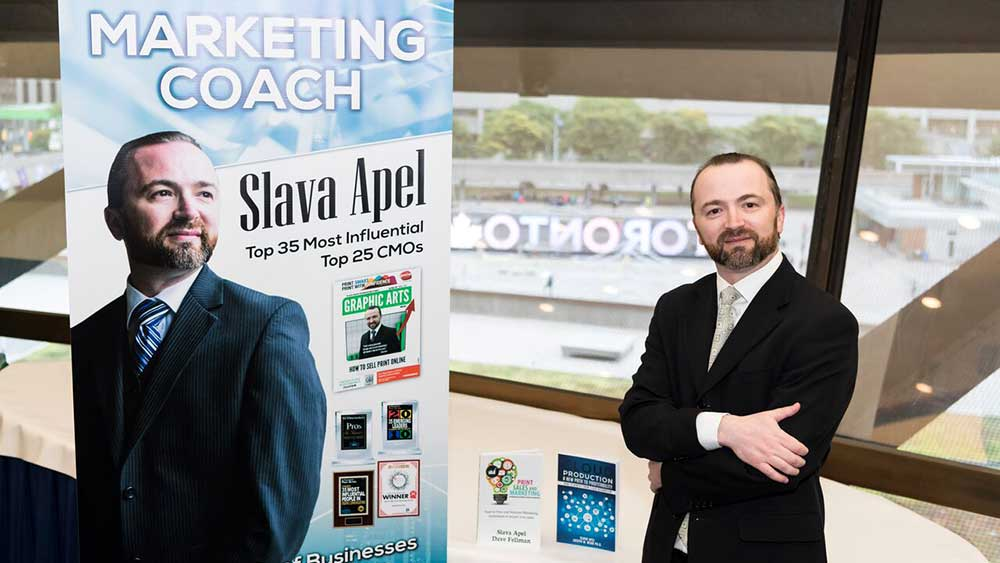Slava Apel at Toronto City Hall Marketing Training Event