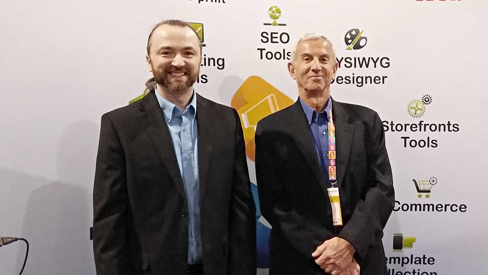 Slava Apel with Dave Fellman, Co-Author of Print Sales and Marketing book