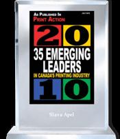 Slava Apel | Print Action 35 Emerging Leaders in Canada's Printing Industry 2010
