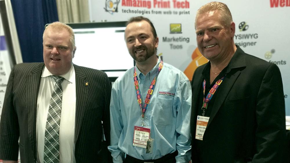 Slava Apel with Mayor Rob Ford and Councillor Doug Ford