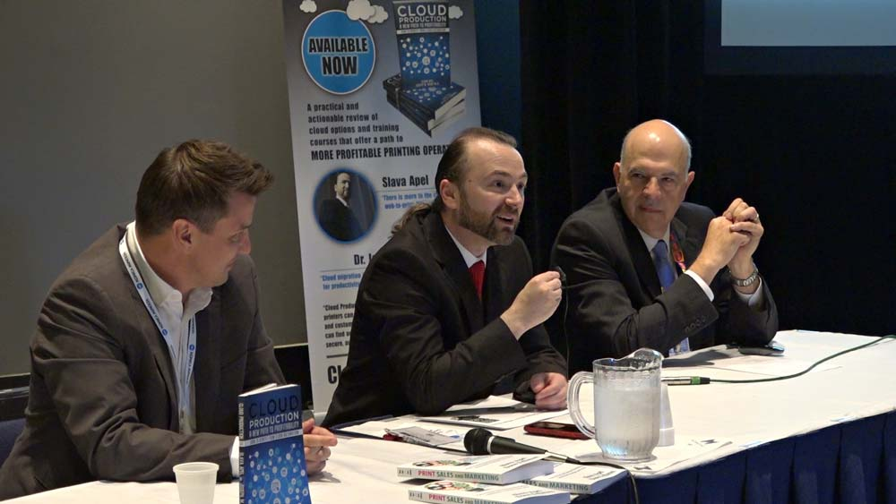 Slava Apel, Dr. Joe Webb and Scott Prince promoting their new book Cloud Production