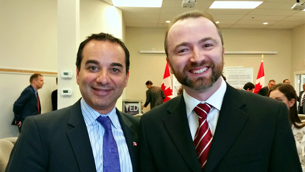 Member of Parlament Michael Levitt with Slava Apel