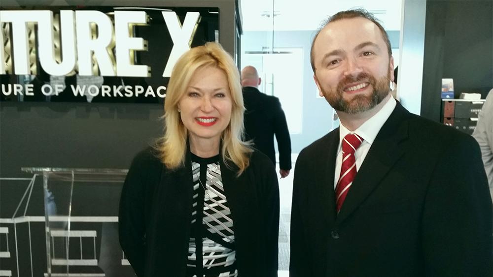 Mayor of Mississauga Bonnie Crombie with Slava Apel