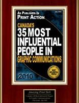 Slava Apel | Print Action Canada's 35 Most Influential People in Graphic Communications 2010