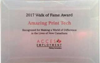 2017 Walk of Fame Award for Making a World of Difference in the Lives of New Canadians