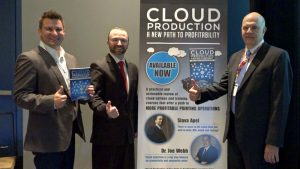Dr. Joe Webb, Slava Apel and Scott Prince promoting their new book Cloud Production