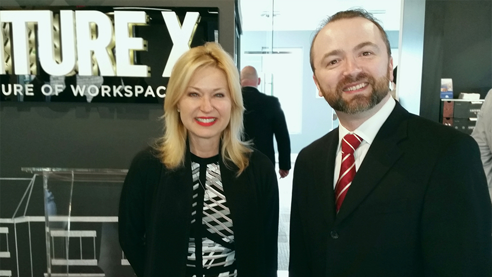 Mayor of Mississauga Bonnie Crombie with Slava Apel