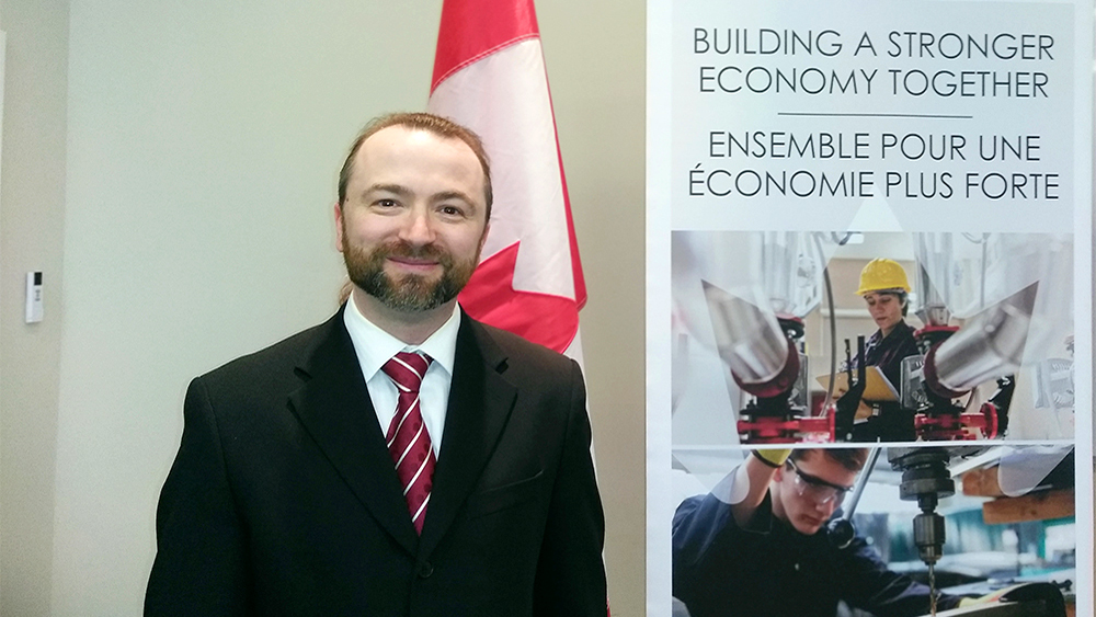 Slava Apel working with Federal Economic Development Agency Canada