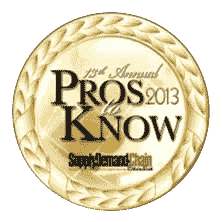 "Supply & Demand Chain Executive ""Pros to Know"" Award Winner"