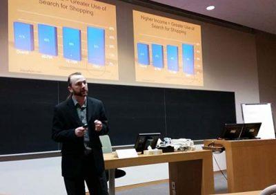 Slava Apel during a presentation.